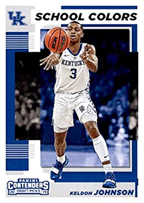 2019-20 Panini Contenders Draft Picks School Colors #13 Keldon Johnson Kentucky Wildcats Basketball Card