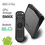 Android 6.0 TV Box 2GB/8GB, 2017 Newest Model GooBang Doo ABOX A1 Plus Amlogic S905X 64 Bits Quad Core and Supporting 4K (60Hz) Full HD /H.265 /WiFi 2.4GHz