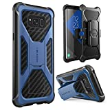 i-Blason Transformer Series Case for Galaxy S8+ Plus, [Kickstand] [Heavy Duty] [Dual Layer] Holster Cover with [Locking Belt Clip] for Samsung Galaxy S8+ Plus 2017 Release (Navy)
