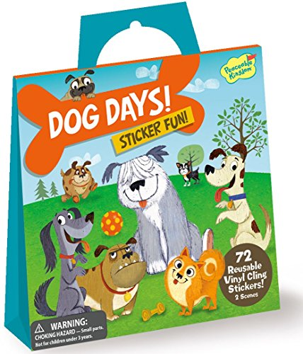 Peaceable Kingdom Sticker Fun Dog Days Reusable Sticker - Felt Dog Stickers