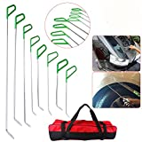 Special PDR Car Body Dent Repair Removal Tools AUTOPDR Automotive Body Dent Remover Tools Kits Set Green Stainless Steel Pdr Rod Sets Hail Slide Hammer Tool Kit Set Dent Puller with Tool Bag