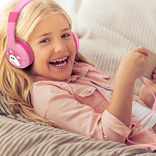 Mpow Kids Headphones with 85dB Volume Limited Hearing Protection & Music Sharing Function, Kids Friendly Safe Food Grade Material, Tangle-Free Cord, Wired On-Ear Headphones for Children Toddler Baby by Mpow (Image #5)'