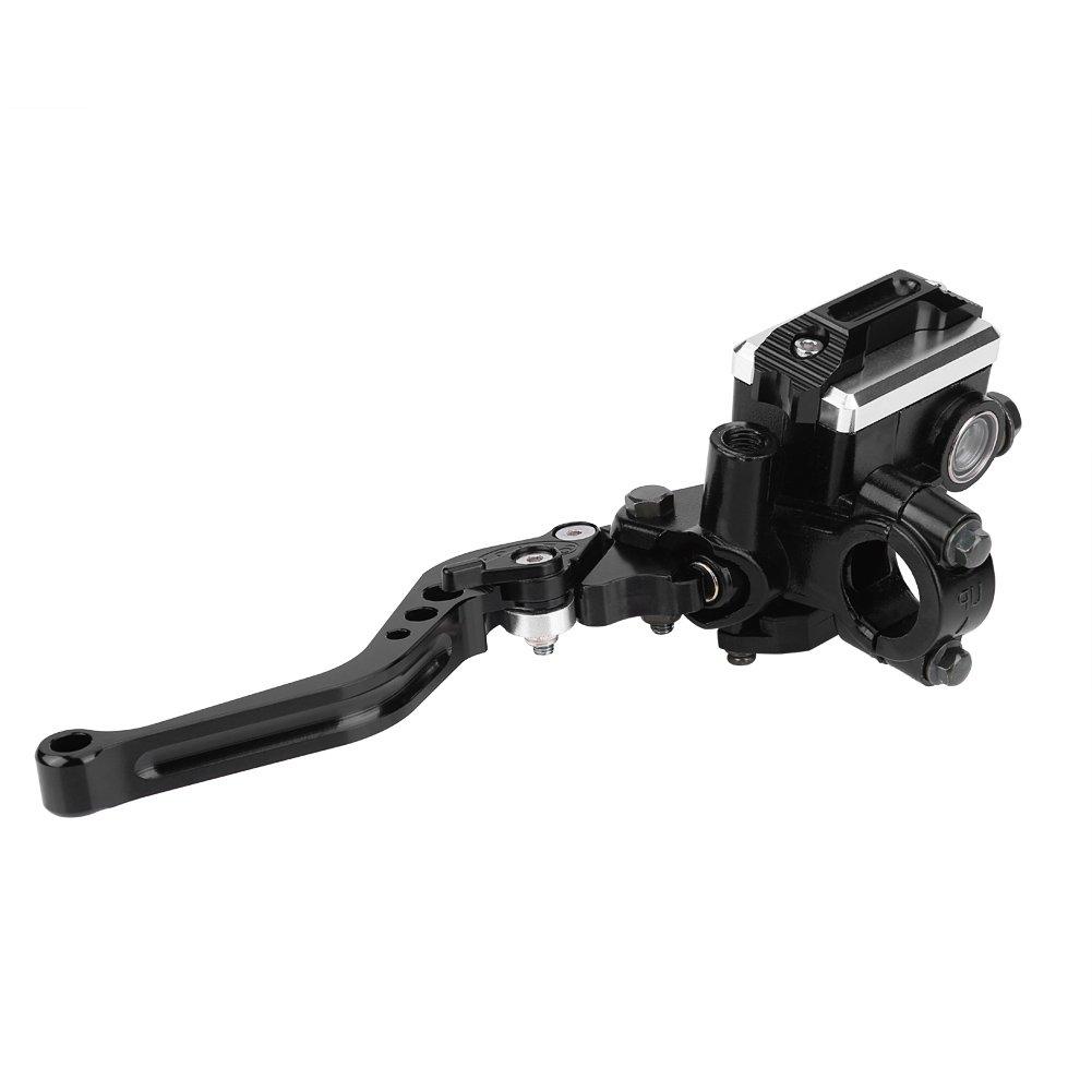 Duokon Aluminium 1 Paar 22 mm Universal Motorrad Bremse Kupplung Master Zylinder Reservoir Hebel Hebel links /& rechts Set