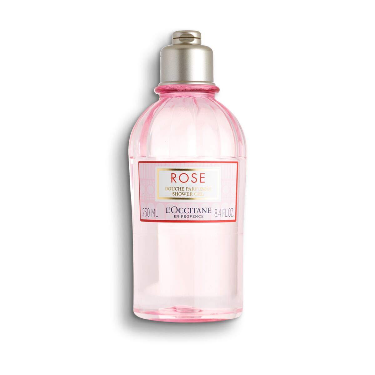 L'Occitane Gentle Rose Shower Gel Enriched with Rosa Centifolia Floral Water, 8.4Fl Oz
