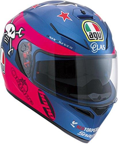 AGV K3 SV Guy Martin Full Face Helmet Blue/Pink/White Size XL DOT