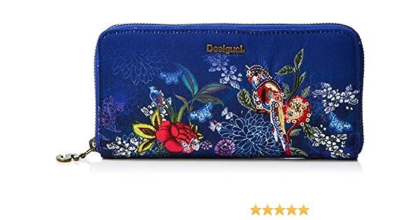 Desigual Mone_birdpalm Fiona, Carteras Mujer, Azul (Marino), 2x10x20.2 cm (B x H x T): Amazon.es: Zapatos y complementos