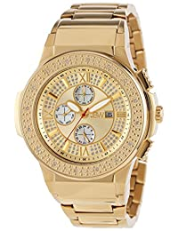 """JBW Men's JB-6101-D """"Saxon"""" Gold Diamond Watch"""
