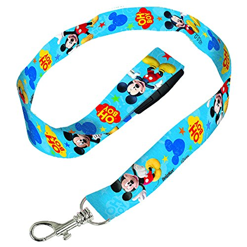 Mickey Mouse Lanyard, 1 Piece, Made from Fabric, Birthday, 18 1/2 x 3/4 Inches by Amscan (Themed Event Lanyard)