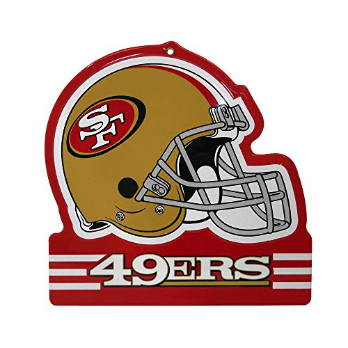 - Party Animal San Francisco 49ers Embossed Metal NFL Helmet Sign, 8