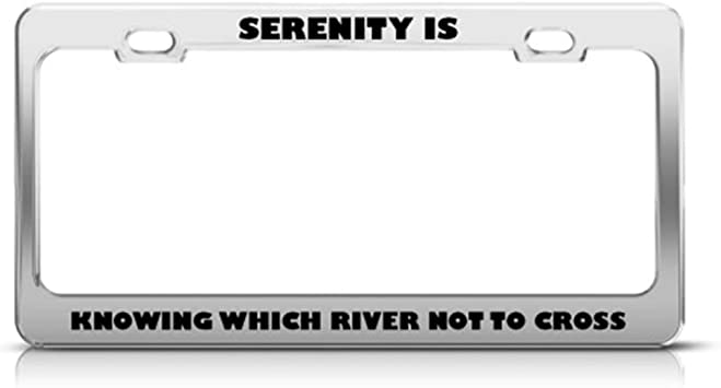 Speedy Pros My Other Ride is A Firefly Class Zinc Metal License Plate Frame Car Auto Tag Holder Chrome 2 Holes