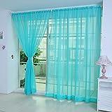 YanHoo 1 PCS Pure Color Tulle Door Window Curtain Drape Panel Sheer Scarf Valances (H)