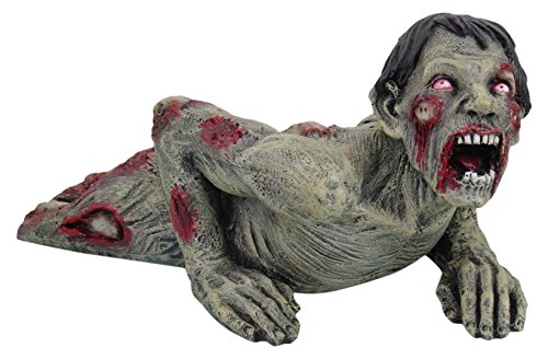 PTC 9601 Zombie in a Crawling Position Painted Resin Statue Figurine, 9