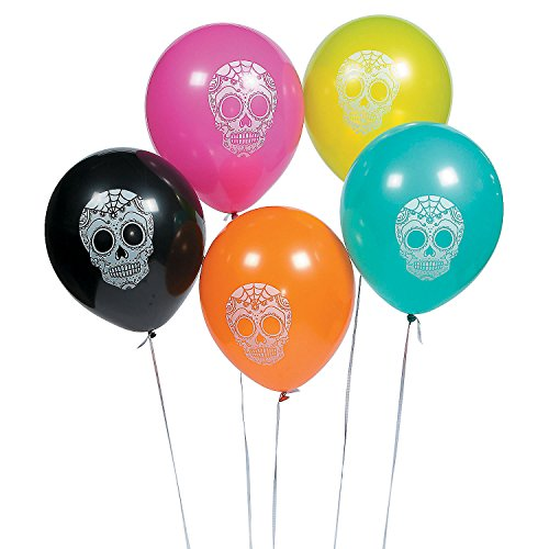 Day of The Dead Latex Balloons (Lot of 12)
