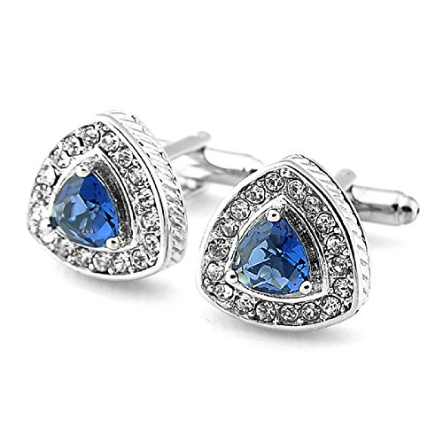 Sirius Jewelry Men's Manmade Blue Diamond Heart Design - Design Diamond Link