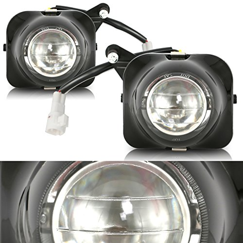 CCIYU Clear Lens H3 12V 55W Fog Light Assembly Replacement for 2000-2005 TOYOTA Celica Pair Set (Lens Clear 55w)