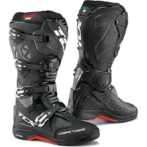 Tcx Mens Comp Evo Michelin Stivali Da Moto Off-road - Rosso / Blu / Giallo Fluo Taglia 45 Nero