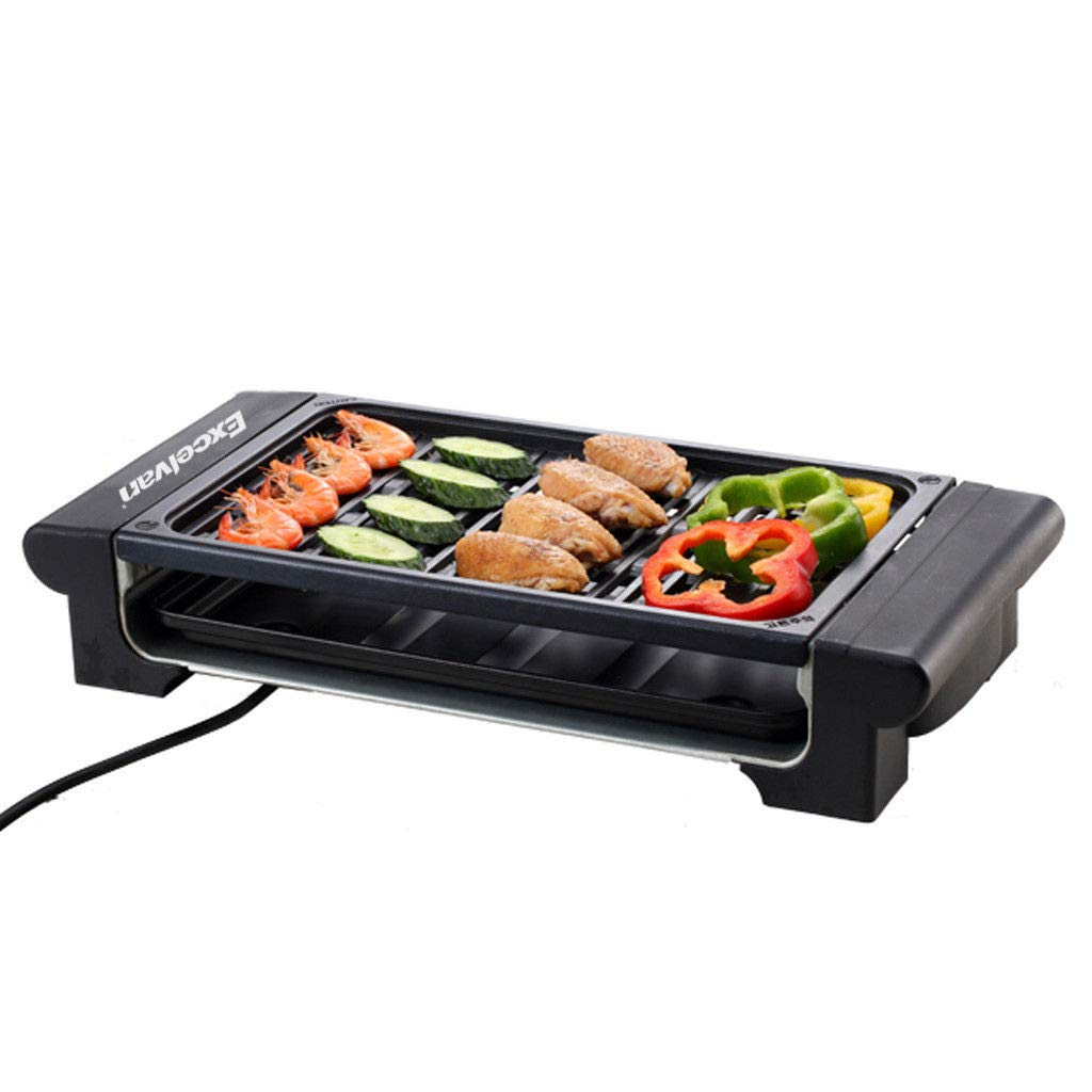 Snow Shop Everything Family Time with Electric Non-Stick Table Top Grill Griddle BBQ Steak Sausage Barbecue Plate Smokeless Convenient in Apartment Indoor Enjoy Cooking Party Easy to Clean