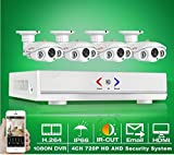 GOWE 4CH 1080N HDMI DVR Kit Outdoor Security System 1280720P HD 1800TVL CCTV Camera Home Video Surveillance AHD Camera Set
