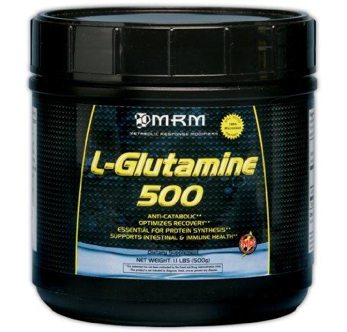 MRM L-Glutamine 500, pot en plastique de 17,6 onces