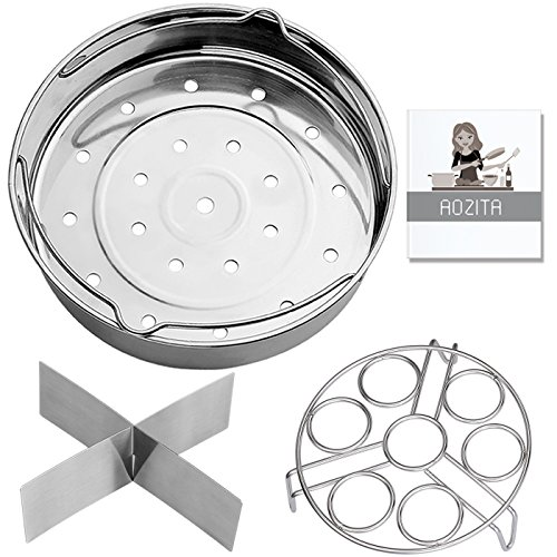 Aozita Steamer Basket Rack Set for Instant Pot Accessories 8
