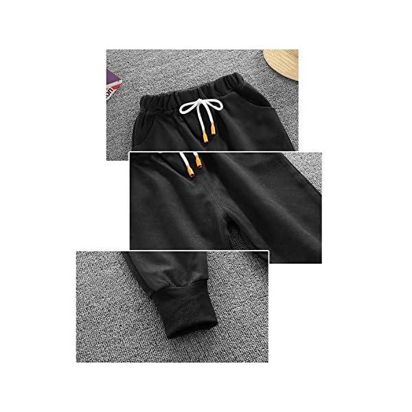 Nwada Abbigliamento Bambino Completi e Coordinati Tuta Sportivi Vestiti a Righe Set Camicia con Cappuccio e Pantaloni 5