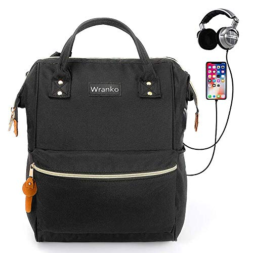 Laptop Backpack, Computer Backpack with USB Port Up to 15.6 Inch Anti-Theft Casual Travel Daypacks Waterproof School Backpack Laptop Bag College Bookbag Business Shoulder Bags for Men Women, Black