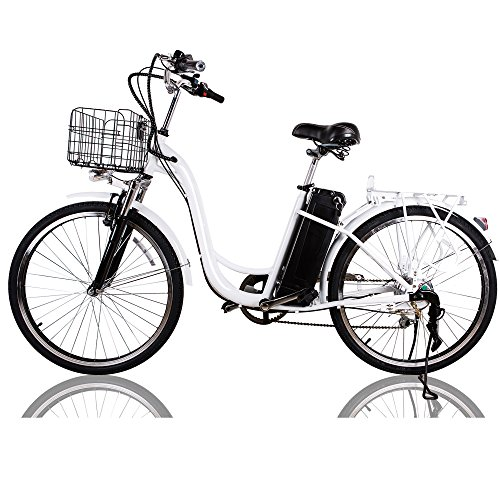"NAKTO 26"" 250W Electric Bicycle Sporting Shimano 6 Speed Gear EBike Brushless Gear Motor Removable Waterproof Large Capacity 36V10A Lithium Battery Battery Charger -Class AAA from NAKTO"