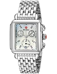 Women's MWW06P000014 Deco Analog Display Swiss Quartz Silver Watch