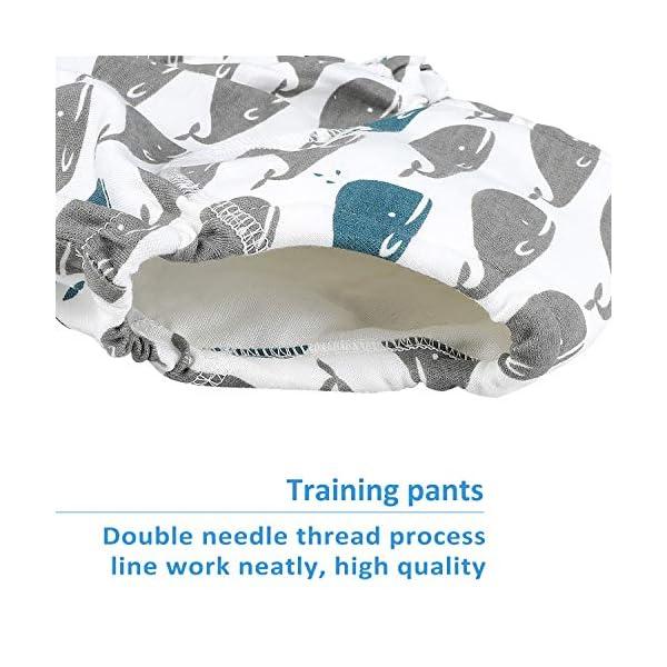 Flyish - Mutande per imparare a usare il vasino, per bambini e bambine da 1 a 4 anni, confezione da 4 Ragazzi. 12 Mesi 3
