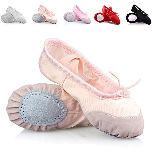 10125b3461c8c CIOR Ballet Slippers for Girls Classic Split-Sole Canvas Dance ...