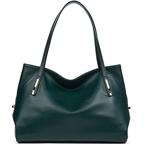 Green Leather Handbag - 3