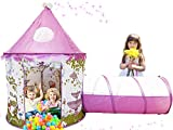 Aeroway Sunroof Princess Castle Play Tent with Tunnel and Case – Pink