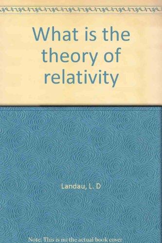 Book relativity pdf of theory