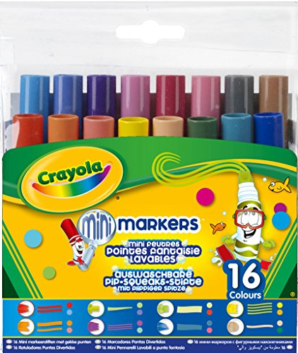 Crayola Pip Squeaks Tiplets Markers, Assorted Colors, 16 Count -