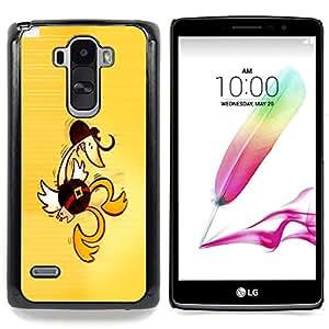 """Qstar Arte & diseño plástico duro Fundas Cover Cubre Hard Case Cover para LG G4 Stylus H540 (Western Pato baila - Divertido"""")"""
