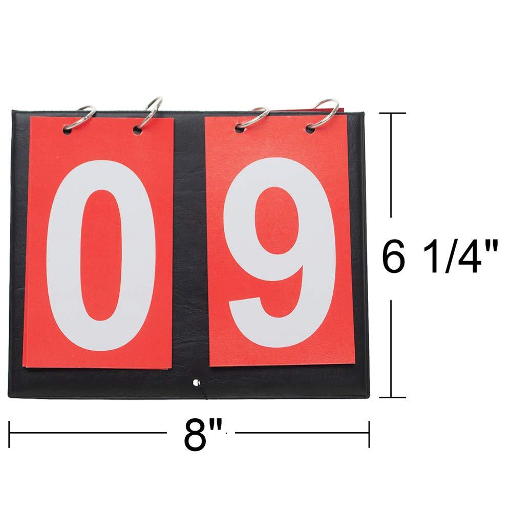 Tabelle segnapunti da tavolo portatili 2/pezzi 1/blu e 1/rossa Gogo