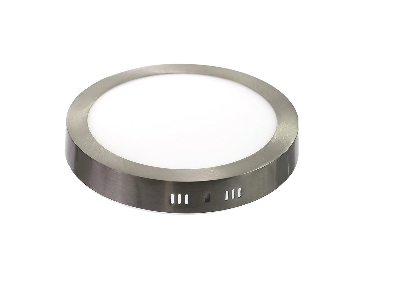 para hueco de 200-205mm natural 4000K aluminio aro acero pulido 6000K - Frio Downlight led 18W redondo superficie luz fr/ía 6000K Jandei