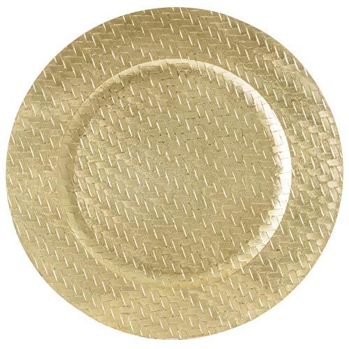 Sousplat Trançado Mimo Style Dourado