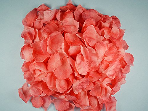 Ben Collection 300 Pieces Silk Rose Petal Wedding Decoration (Coral) Coral Silk Rose Petals