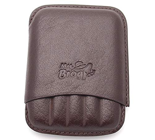 Double Corona Leather Cigar Holder - Authentic Full Grade Buffalo Hide Leather - -
