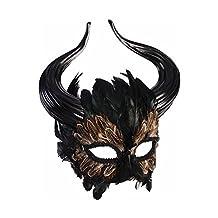 Mythical Creature Greek Minotaur Masquerade Mask Horns Bull Man Feathers Fantasy