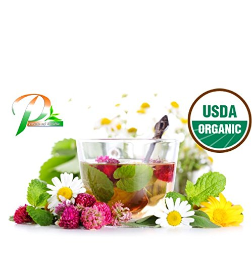 Pride Of India - Organic Stress Relief Tea, 1.5oz Gourmet Handmade Jar (Makes 25 Cups)