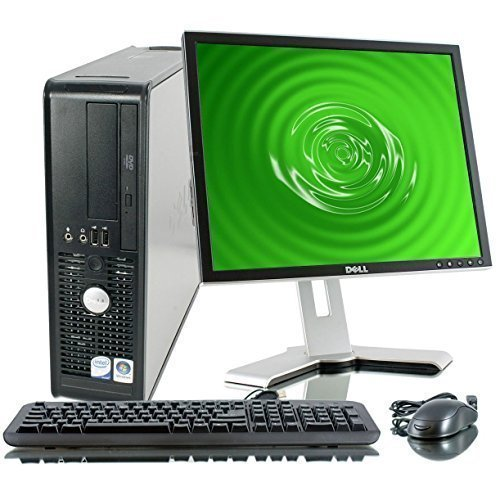 Dell Optiplex, Intel C2D 2.66Ghz, New 2GB, 160GB, WiFi, DVD/CD-RW Optical Drive, Windows 7 Pro x64, with New USB Keyboard & 17 Monitor (models vary)-(Certified Reconditioned)