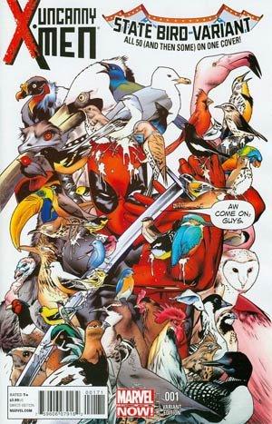 Uncanny X-Men Vol 3 #1 Variant Deadpool 53 State Birds Cover