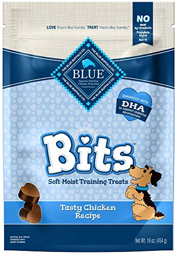9 Ounce Top Grain - Blue Buffalo BLUE Bits Natural Soft-Moist Training Dog Treats, Chicken Recipe 16-oz bag