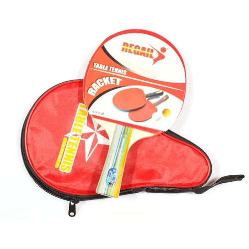 Amazon.com : Kingzer Table Tennis Racket Long Handle Ping Pong Paddle + Red Waterproof Carring Bag : Sports & Outdoors