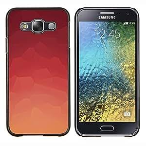 TECHCASE---Cubierta de la caja de protección para la piel dura ** Samsung Galaxy E5 E500 ** --Modelo rosado abstracto