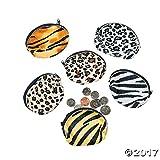 Fun Express Plush Animal Print Coin Purses (1 Dozen)