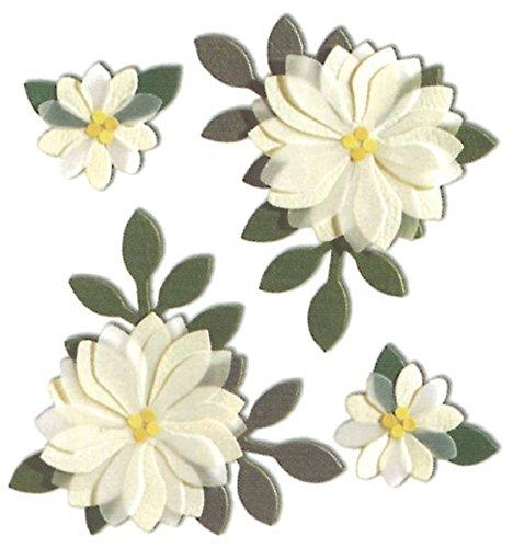 Nceonshop(TM) Jolee's Boutique Dimensional Sticker Vanilla Flowers SPJC-034 ()