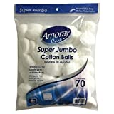 Amoray super jumbo cotton balls 3 pack of 70 count